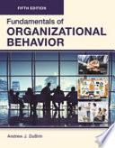 FUNDAMENTALS of ORGANIZATIONAL BEHAVIOR, Fifth Edition (LLF-B/W)