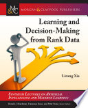 Learning and Decision Making from Rank Data