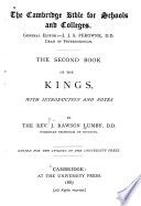 The Second Book Of The Kings Book PDF