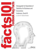 Studyguide for Essentials of Statistics for Business and Economics by Anderson  David R   ISBN 9781305435650 Book