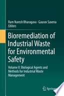 Bioremediation Of Industrial Waste For Environmental Safety Book PDF
