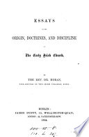 Essays On The Origin Doctrines And Discipline Of The Early Irish Church