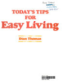 Today s Tips for Easy Living