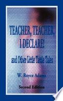 Teacher  Teacher  I Declare  Book