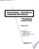 Vocational-technical learning materials  : books and manuals for schools and community colleges