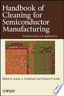 Handbook for Cleaning for Semiconductor Manufacturing