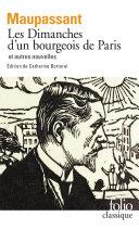 Pdf Les Dimanches d'un bourgeois de Paris et autres nouvelles Telecharger