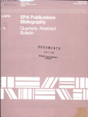 EPA Publications Bibliography Book