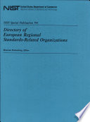 Directory of European Regional Standards-Related Organizations