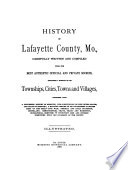 History of Lafayette County  Mo Book