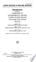 105 1 Hearings  Lasting Solutions to High Risk Programs  S Hrg  105 194  May 1  1997