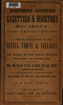 The Northern Counties Gazetteer and Directory  for 1855 6