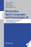 Declarative Agent Languages and Technologies III