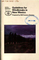 Guidelines for Windbreaks in New Mexico Book