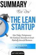 Summary Eric Ries' the Lean Startup