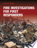 Fire Investigations for First Responders Book