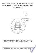 Wissenschaftliche Zeitschrift der Wilhelm-Pieck-Universität Rostock