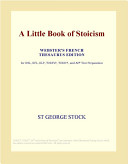 A Little Book of Stoicism  Webster s French Thesaurus Edition