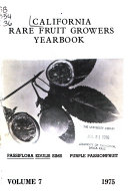 California Rare Fruit Growers Yearbook ebook