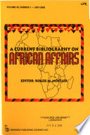 A Current Bibliography on African Affairs