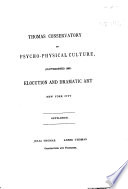 Thomas Conservatory Of Psycho Physical Culture