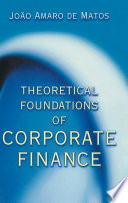 Theoretical Foundations of Corporate Finance Book PDF