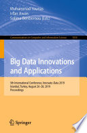 Big Data Innovations and Applications Book