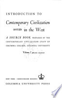 An Introduction to Contemporary Civilization in the West