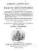 Sobrino Aumentado, O Nuevo Diccionario De Las Lenguas Española, Francesa Y Latina