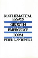 Mathematical Essays on Growth and the Emergence of Form