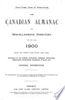 The Canadian Almanac and Miscellaneous Directory