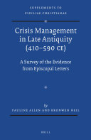 Crisis Management in Late Antiquity (410-590 CE)