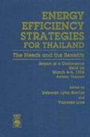 Energy Efficiency Strategies For Thailand Book PDF