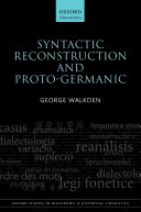 Syntactic Reconstruction and Proto Germanic