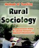 Methods Of Teaching Rural Sociology