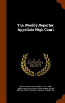 The Weekly Reporter  Appellate High Court