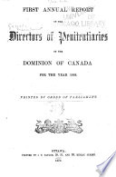 Report of the Commissioner of Penitentiaries