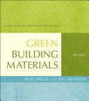Green Building Materials Book