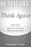 Summary of Think Again