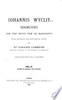 Iohannis Wyclif Sermones Now First Edited from the Manuscripts with Critical and Historical Notes Book PDF