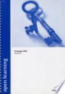 Open Learning Guide for FrontPage 2003 Advanced Book PDF