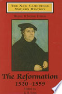 The New Cambridge Modern History: The Reformation, 1520-1559