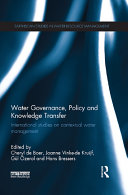 Water Governance, Policy and Knowledge Transfer