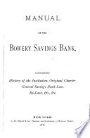Manual of the Bowery Savings Bank