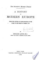 The Student's Modern Europe