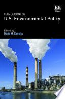 Handbook of U S  Environmental Policy