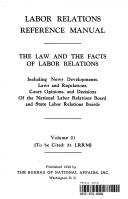 Labor Relations  Volume 21