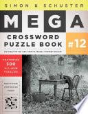 Simon   Schuster Mega Crossword Puzzle Book  12 Book