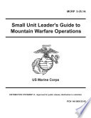 Manuals Combined  USMC   MWTC Marine Corps Winter And Summer Mountain   Wilderness Medicine  Survival And Warfare Leader