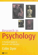 Research in Psychology Book